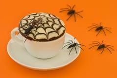 filiżanka tortowy pająk Zdjęcia Royalty Free