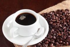 Filiżanka warząca kawa zdjęcia royalty free