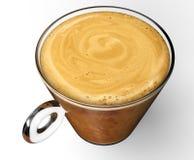 Filiżanka z coffe odizolowywającym na bielu Fotografia Stock