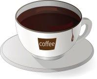 filiżanka z czarny kawą Obraz Stock