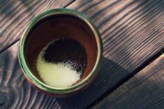 Filiżanka z kawą i cukierem Fotografia Royalty Free