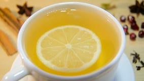 filiżanki cytryny herbata zdjęcie wideo