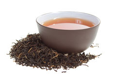 filiżanki czarny herbata Fotografia Stock