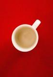 filiżanki czerwieni stół Fotografia Stock