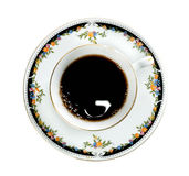 filiżanki gorąca odosobniona porcelany herbata Obraz Royalty Free
