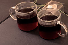 filiżanki herbata dwa Zdjęcie Royalty Free