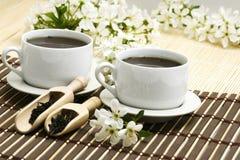 filiżanki herbaty relaksująca owocowych obrazy royalty free