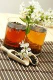 filiżanki herbaty relaksująca owocowych obraz royalty free