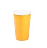 filiżanki isolatad papieru biel kolor żółty Obraz Royalty Free