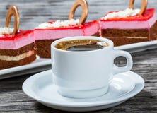 Filiżanki kawy kawa espresso, zakończenie Zdjęcia Royalty Free