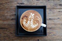Filiżanki kawy mokka na drewnianym fotografia stock