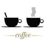 Filiżanki kawy wektorowa ilustracja na bielu royalty ilustracja
