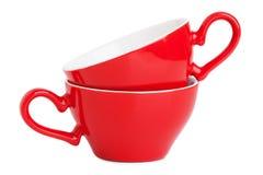 filiżanki mały elegancki czerwony Zdjęcie Royalty Free