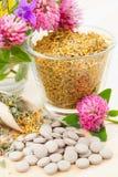 filiżanki medycyna szklana lecznicza zielarska ziołowa Obrazy Stock