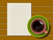 filiżanki nutowego papieru odgórny widok ilustracja wektor