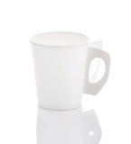 Filiżanki papierowa kawa na białym tle Fotografia Royalty Free