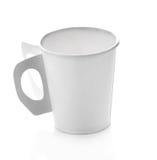 Filiżanki papierowa kawa na białym tle Fotografia Stock