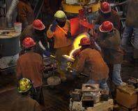 filiżanki plombowania żelazo nalewa Obrazy Stock