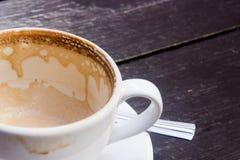 filiżanki pusty gorący latte biel Obrazy Royalty Free