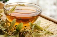 filiżanki suchy wapna herbaty drzewo obrazy stock