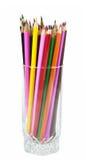 filiżanki szkła ołówek Zdjęcia Stock