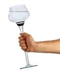 filiżanki szklany ręki mienie Zdjęcie Royalty Free