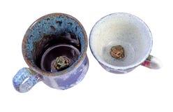 Filiżanki z żaby na dnie Obrazy Stock