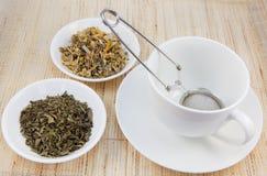 filiżanki ziołowej herbaty Zdjęcia Royalty Free