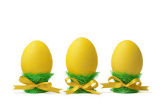 filiżanek Easter jajka odizolowywali biel fotografia royalty free