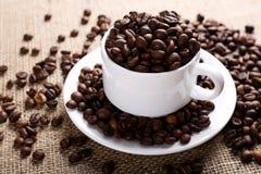 Filiżanek kaw fasole Obraz Royalty Free