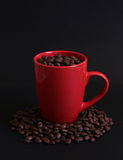 Filiżanek Kawy fasole 2 Zdjęcia Royalty Free