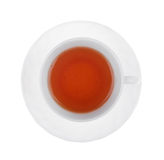 filiżanka biel odosobniony herbaciany obraz stock