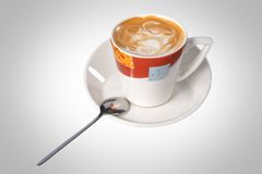 Filiżanka cappuccino Zdjęcia Stock