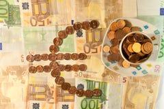 Filiżanka euro Fotografia Stock