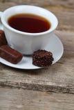 Filiżanka herbata i czekolady Zdjęcia Stock