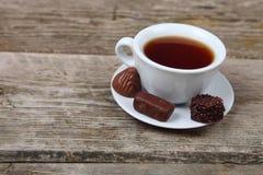 Filiżanka herbata i czekolady Obraz Stock