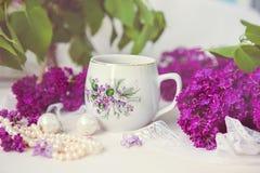 Filiżanka herbata lub kawa Zdjęcie Royalty Free
