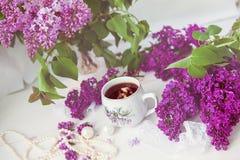 Filiżanka herbata lub kawa Obrazy Royalty Free