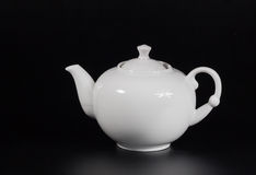 Filiżanka herbata na czarnym tle Fotografia Stock