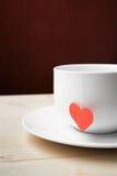 Filiżanka herbata na valentine dniu Obraz Royalty Free