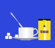 Filiżanka herbata z cukierem Zdjęcie Royalty Free