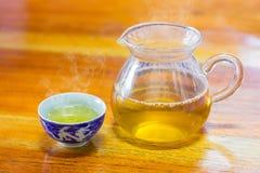 Filiżanka herbata z dzbankiem Obrazy Royalty Free