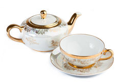 Filiżanka i teapot od porcelany Obraz Royalty Free