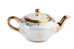 Filiżanka i teapot od porcelany Fotografia Royalty Free