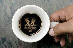 Filiżanka: jenu symbol fotografia royalty free