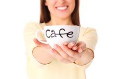 Filiżanka kawy? Obrazy Royalty Free