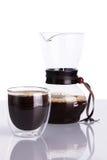 Filiżanka kawy i chemex Obrazy Royalty Free