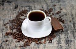 Filiżanka kawy i czekolada Obraz Stock