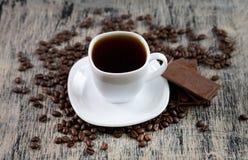 Filiżanka kawy i czekolada Zdjęcie Stock