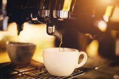Filiżanka kawy prosta od kawowej maszyny Fotografia Royalty Free